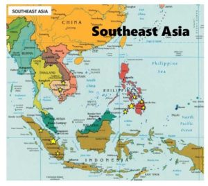Map of 10 40 MCN Go Workers across South East Asia