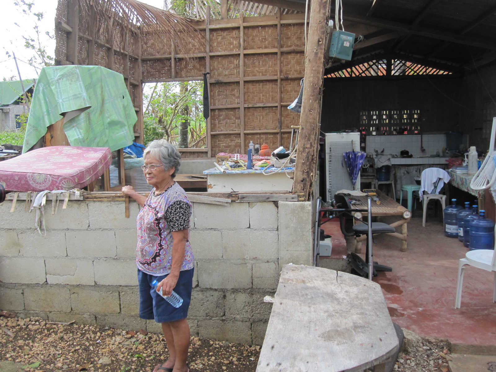 Typhoon_Destroyed House_Pastor's Mother_Widow